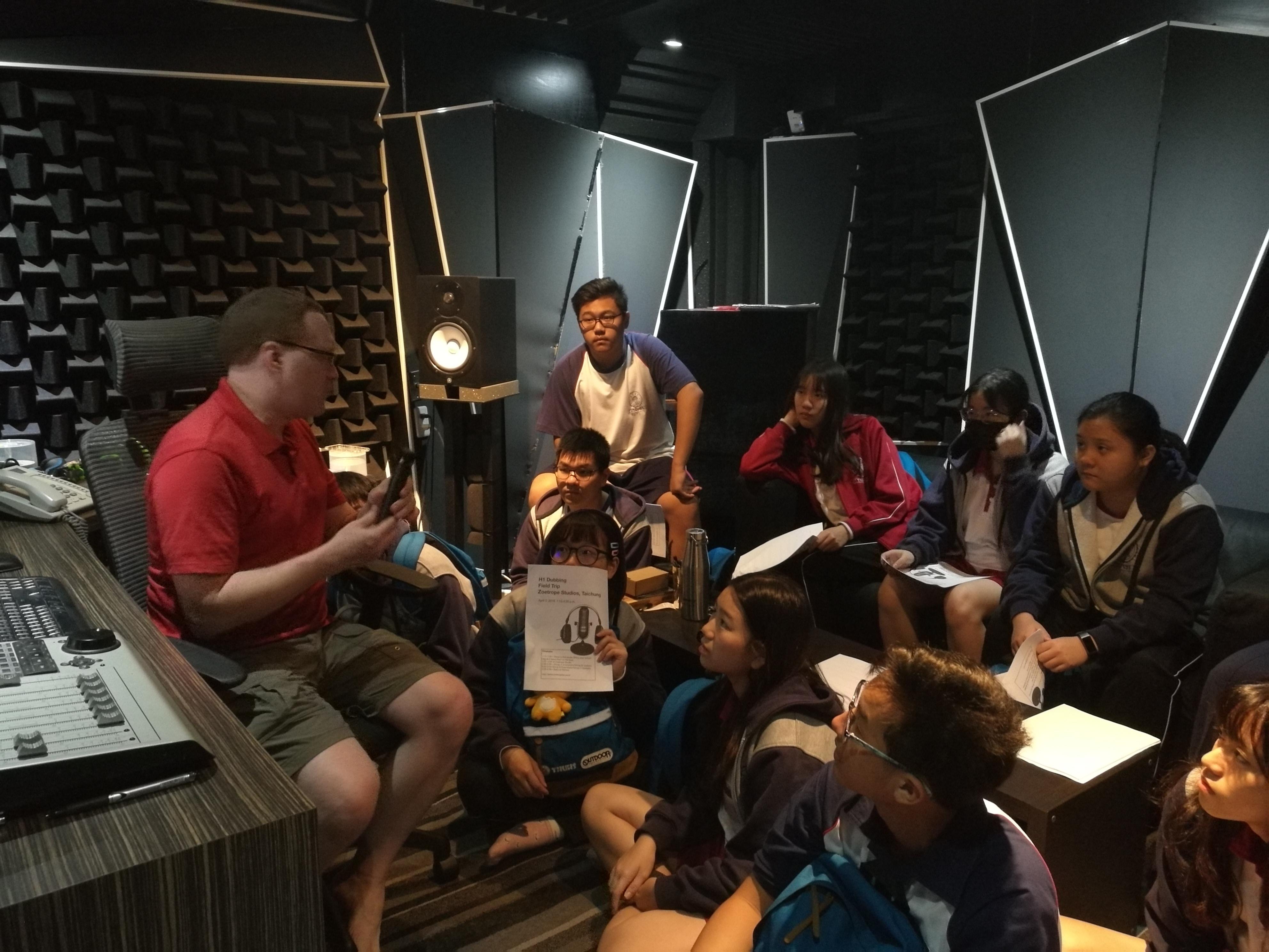 多元選修-108.04.02英文口語戶外教學-專業錄音室參訪