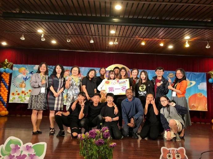 本校獲臺中市107年度國民中學學生英語讀者劇場比賽第一名