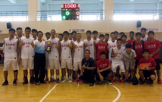 賀》高中部籃球隊榮獲105年臺中巿沙鹿區長盃籃球錦標賽冠軍