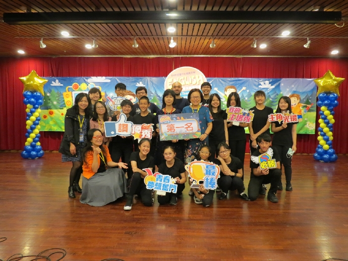 本校獲臺中市109年度國民中學學生英語讀者劇場比賽第一名
