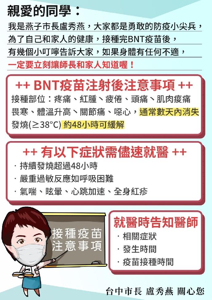 BNT疫苗宣導事項