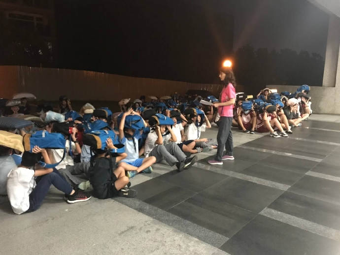 109學年度第一學期國家防災日住宿生宣導防震災教育
